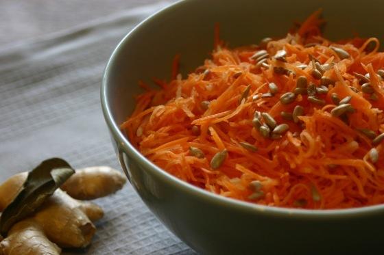 Karottensalat mit Ingwer