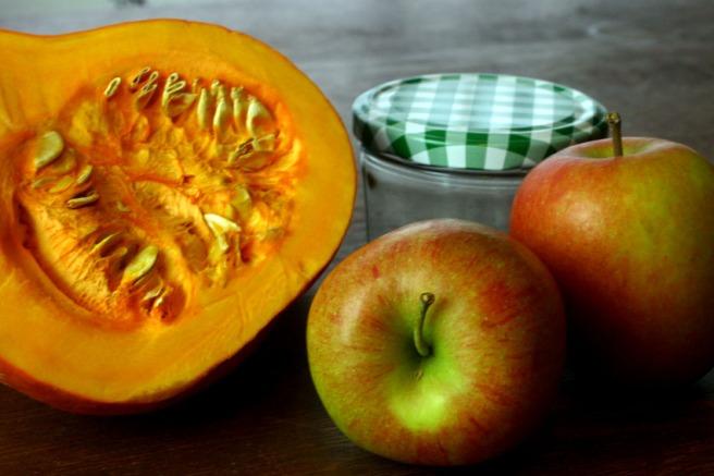 Kürbismarmelade mit Apfel