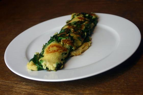 veganer Spinatpfannkuchen