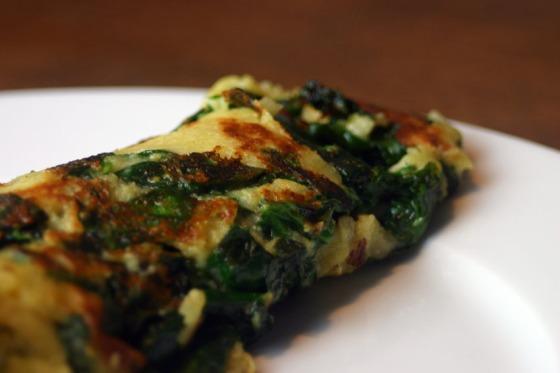 Küchenexperiment: Veganer Spinatpfannkuchen