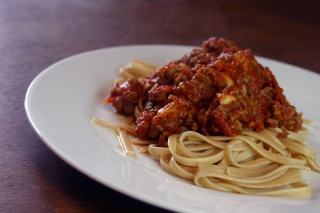 Vegetarische Bolognese mit Quorn