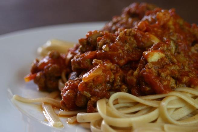 Vegetarische Bolognese mit Quorn)