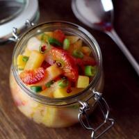 Lauwarmer Goldball-Blutorangen-Salat