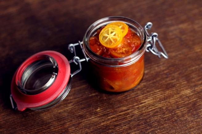 Tomaten-Kumquats-Chutney