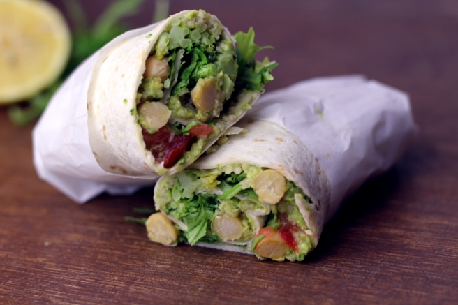 Vegane Wraps mit Avocado