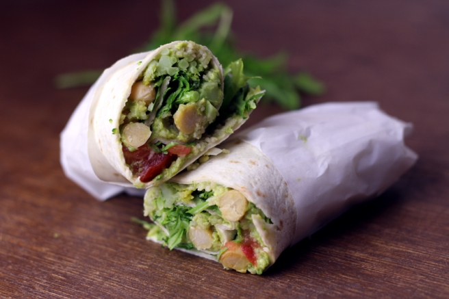 Vegane Wraps mit Avocado