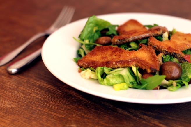 Salat Pilzschnitzel