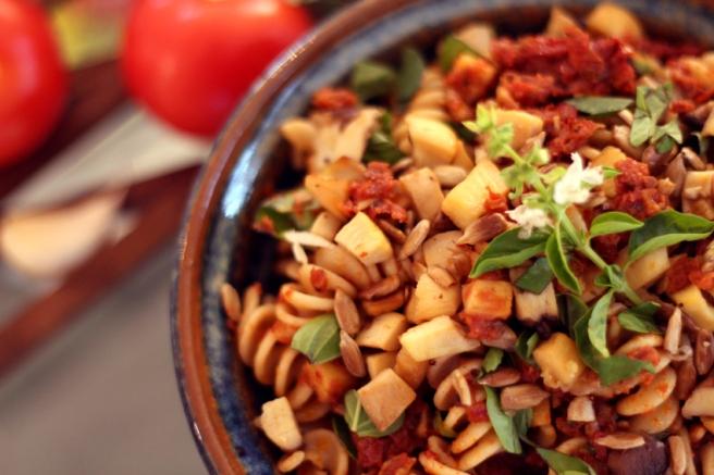 Rotes Pesto Tomaten Pilze