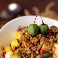 Obstsalat mit Crunch