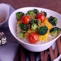 Veganes Kürbiscurry mit Sesam