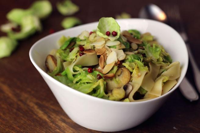 vegane pasta rosenkohl