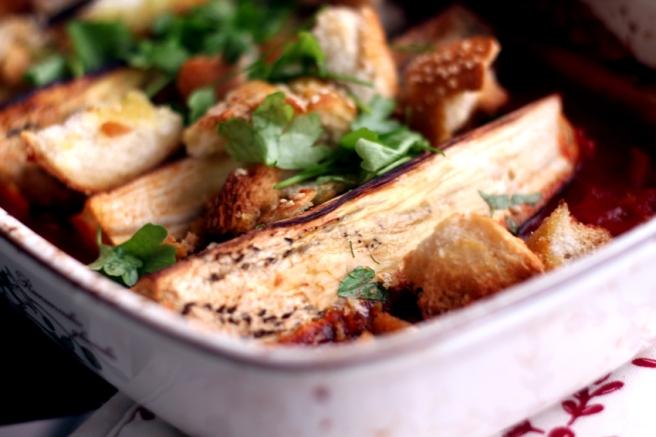 Aubergine aus dem Ofen vegan