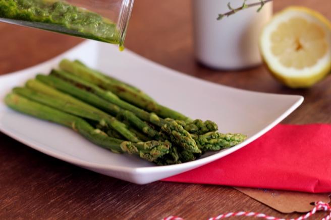 Grünes Pesto Spargel vegan