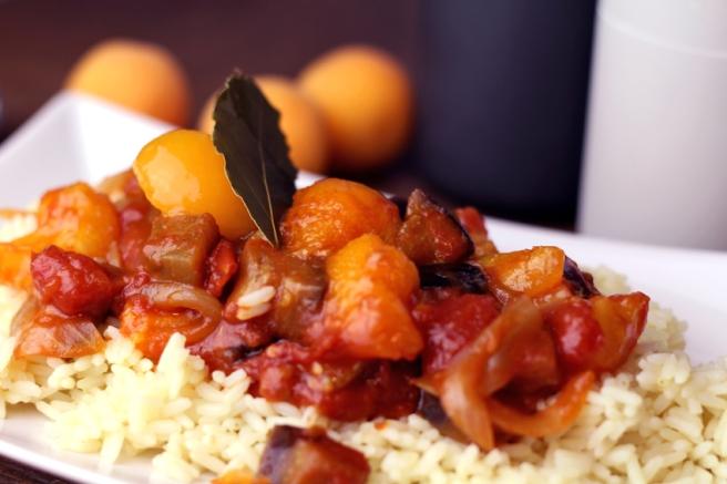 vegan rezept aprikose tomate soße orientalisch
