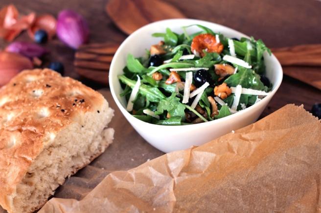 Pfifferling Blaubeeren Salat