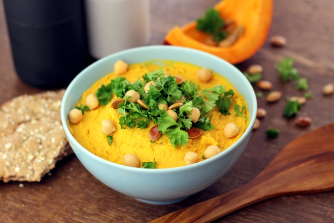 Kürbis-Hummus