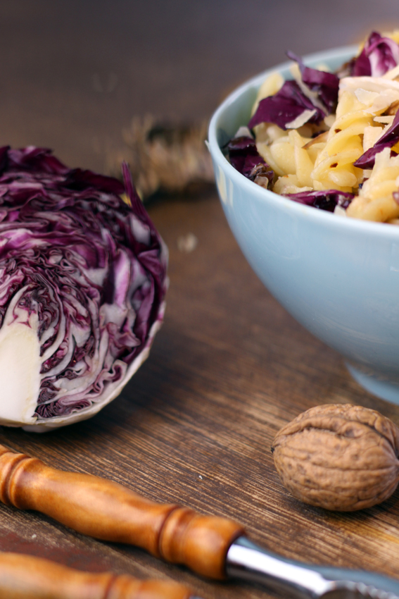 Radicchio-Pasta mit Orange
