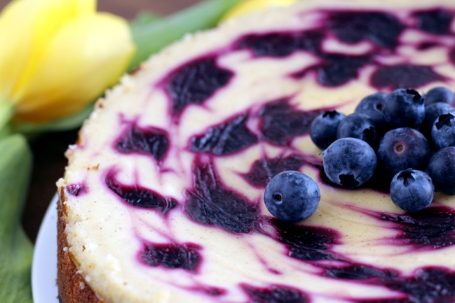 American Cheesecake mit Blaubeeren